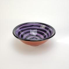Purple Confetti 8 inch soup bowl