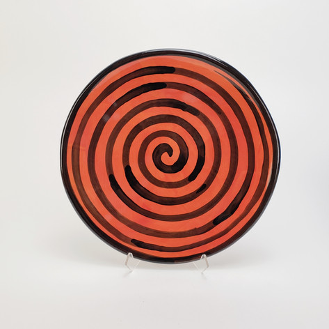 Red Confetti 10.5 inch dinner plate