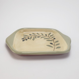 Olive Branch Square Tray