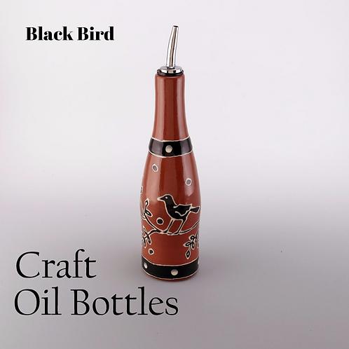Black Bird Oil Bottle