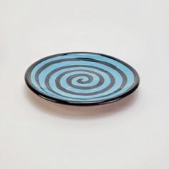 Blue Green Confetti 8 inch salad plate