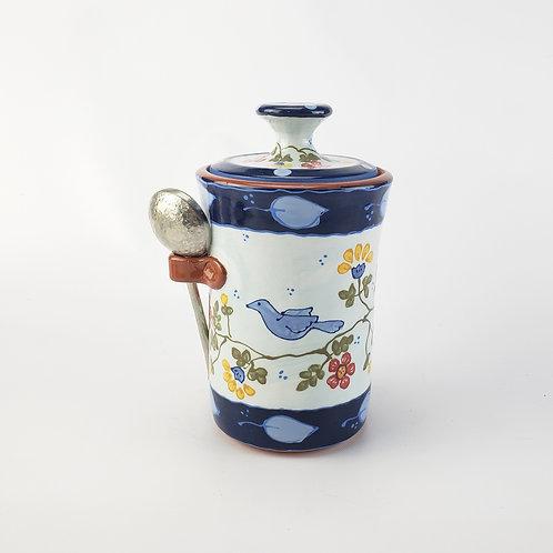 Dutch Blue Bird Coffee Jar