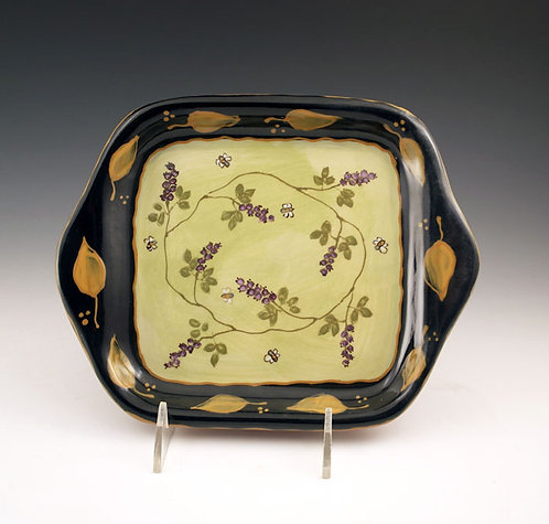 Huckleberries and Bees Square Tray