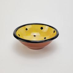 Yellow Confetti 7 inch dessert bowl