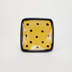 Yellow Confetti 5 inch dipping dish