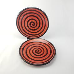 Red Confetti Dinner Plates
