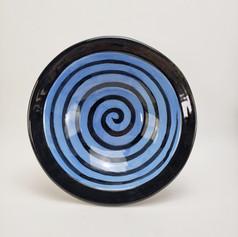 Blue Confetti 11 iinch pasta/serving bowl