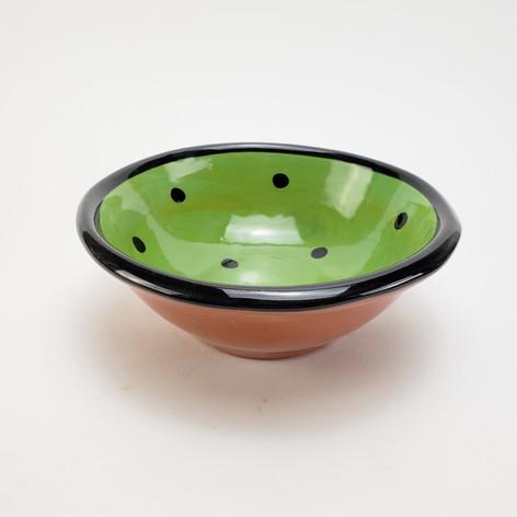 Green Confetti 7 inch dessert bowl