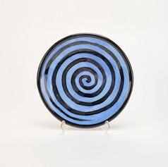 Blue Confetti 8 inch salad plate