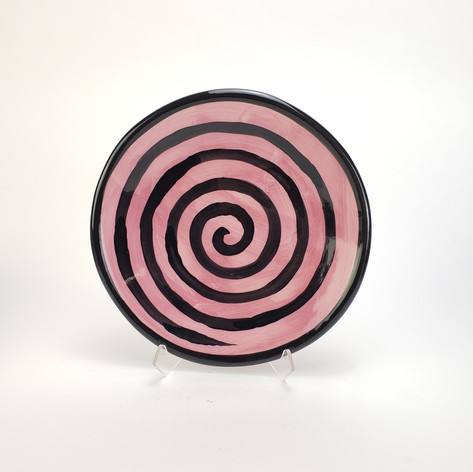 Pink Confetti 8 inch salad plate