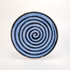 Blue Confetti 10.5 inch dinner plate