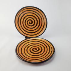Orange Confetti Dinner Plates