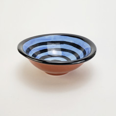 Blue Confetti 8 inch soup bowl
