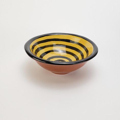 Yellow Confetti 8 inch soup bowl