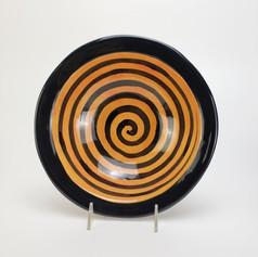 Orange Confetti 11 inch pasta/serving bowl
