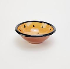 Orange Confetti 7 inch dessert bowl