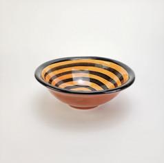 Orange Confetti 8 inch soup bowl
