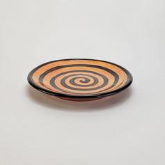 Orange Confetti 8 inch salad plate