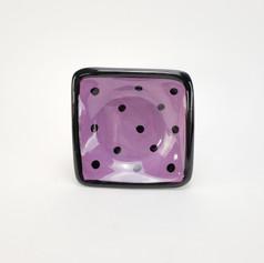 Purple Confetti 5 inch dipping dish
