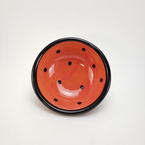 Red Confetti Dessert Bowl