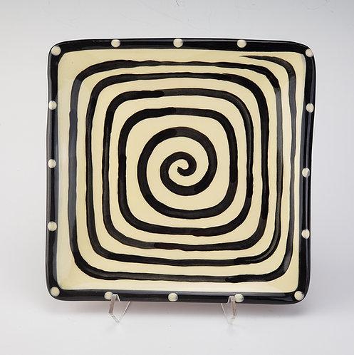 Spiral Square Plate