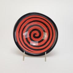 Red Confetti 8 inch soup bowl