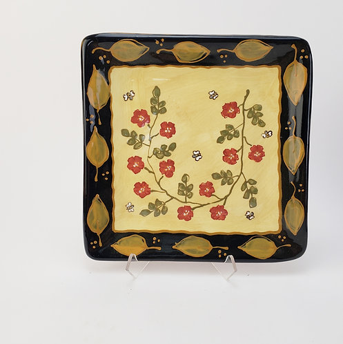 Old Rose Square Plate