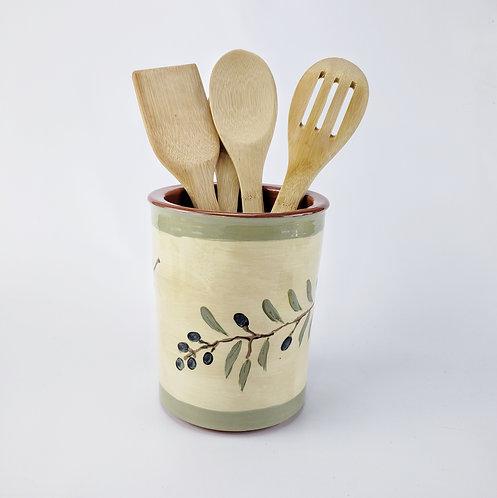 Olive Branch Utensil Jar