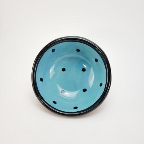 Blue Green Confetti 7 inch dessert bowl