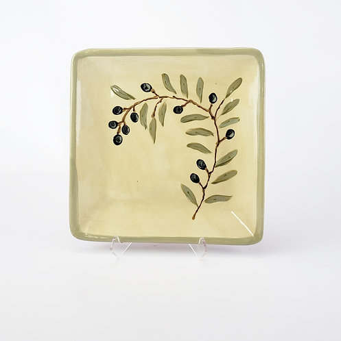 Olive Branch Square Plate
