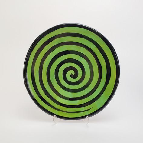Green Confetti 10.5 inch dinner plate