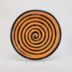 Orange Confetti 10.5 inch dinner plate