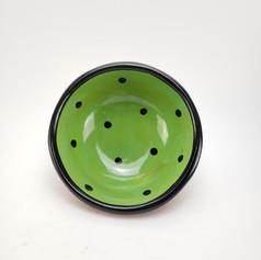 Green confetti 7 inch dipping dish