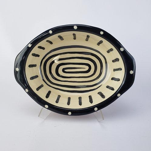 Spiral Oval Baking / Serving Dish