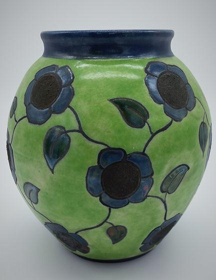 Blue Flower Lattice Globe H=6.25 inch $7