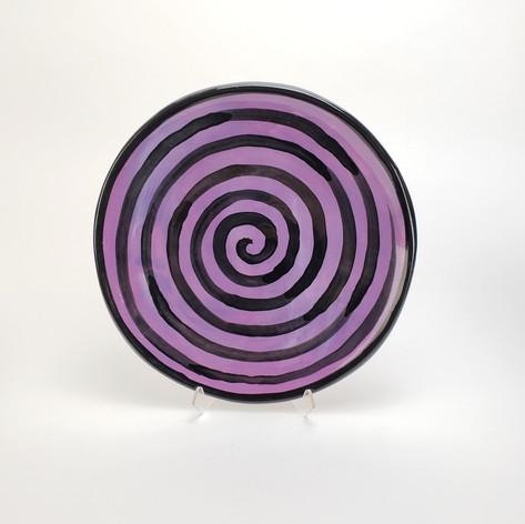 Purple Confettin 10.5 inch dinner plate