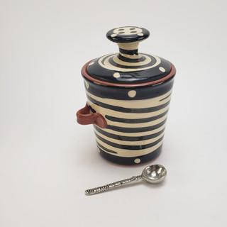 Spiral Sugar/Salt Jar with Spoon