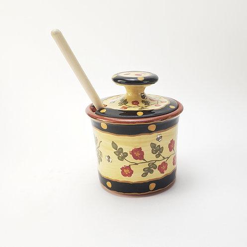 Old Rose Honey Pot