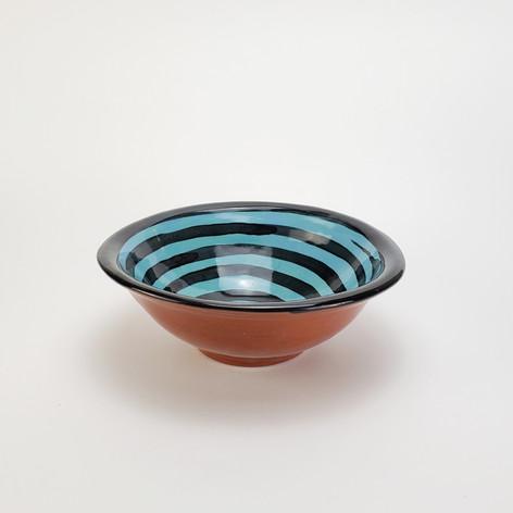 Blue Green Confetti 8 inch soup bowl