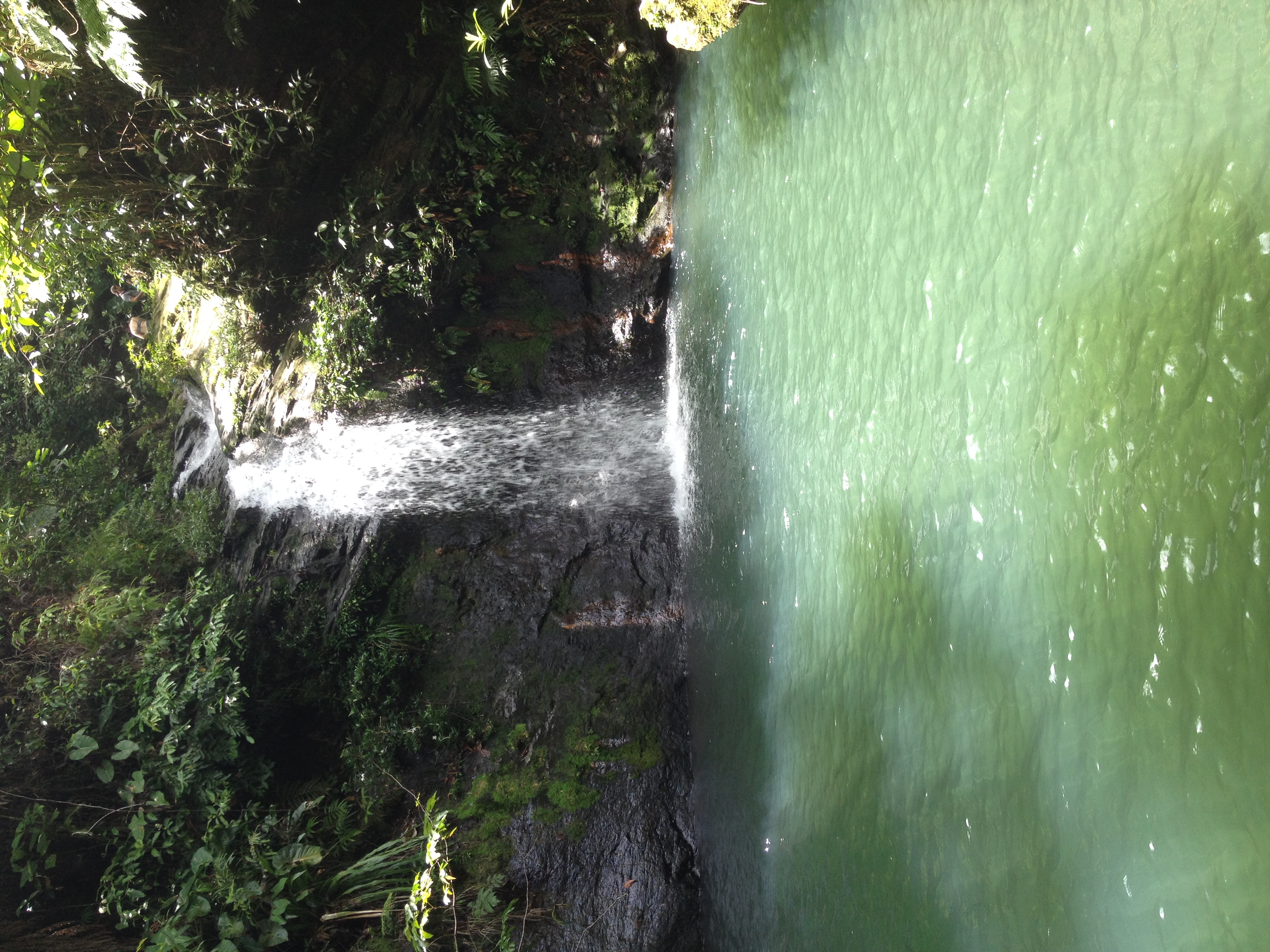 Water Fall hike in Belize