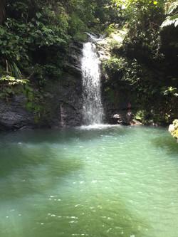 Water Fall hike in Belize