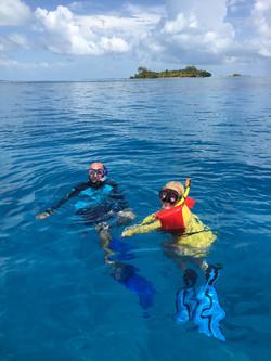 Snorkeling on the Belize Barrier Reef