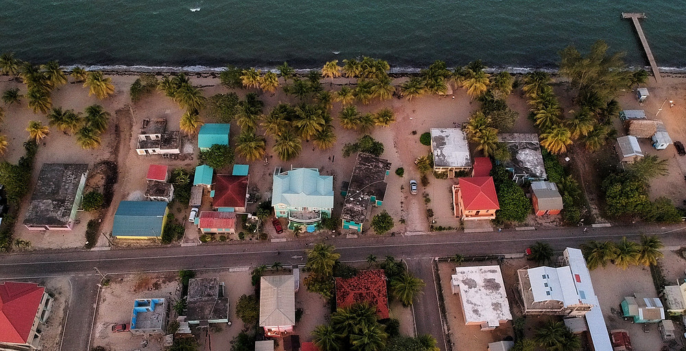 Birdseye View of Hopkins Belize Beach