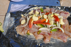 Fillet fish on the island