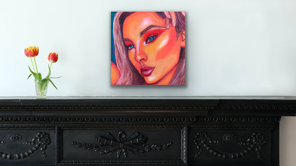 """Dawn"" 12x12 Acrylic canvas panel"