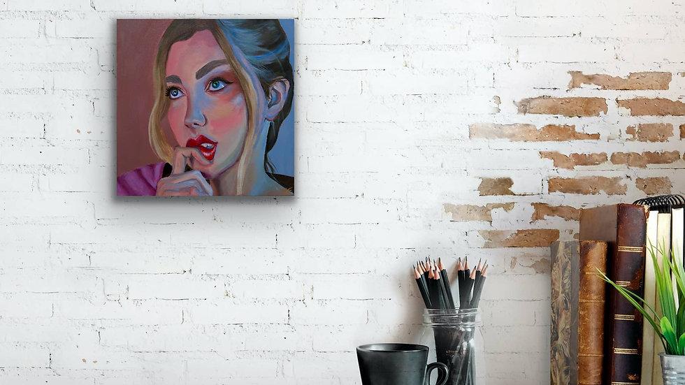 """Hope"" 14x14 Hand Painted Original Acrylic Canvas"