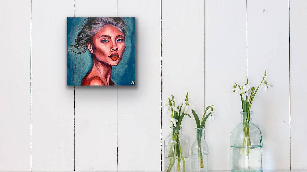 """Althea"" 10x10 Acrylic Canvas Panel"