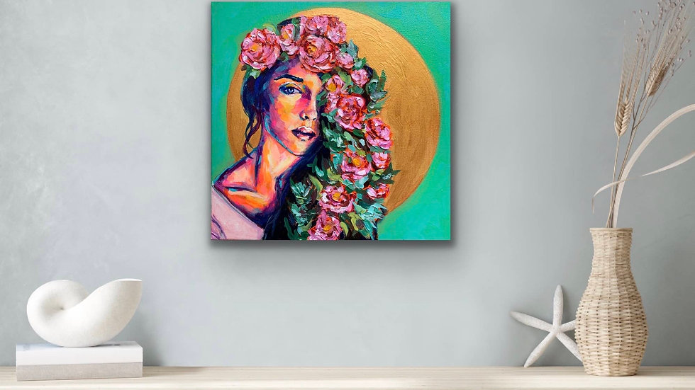 """Solaris"" 12x12 Acrylic Stretched Canvas"