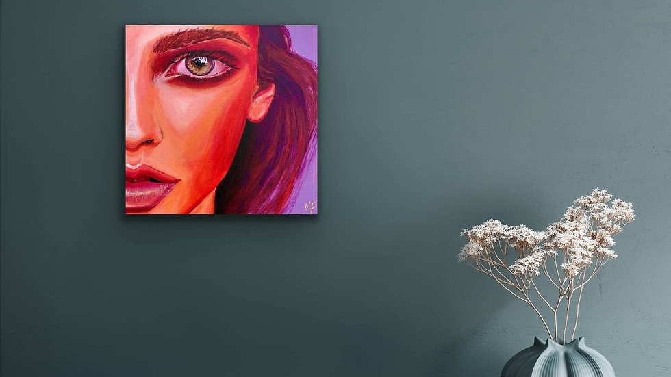 """Kami"" 12x12 Hand Painted Original Acrylic Canvas"