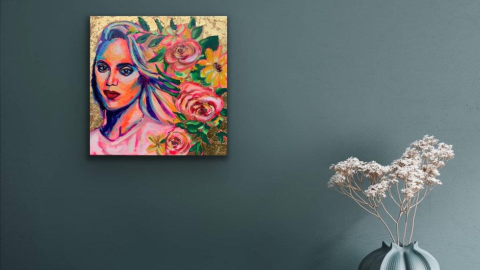 """liv"" 12x12 Acrylic Stretched Canvas"